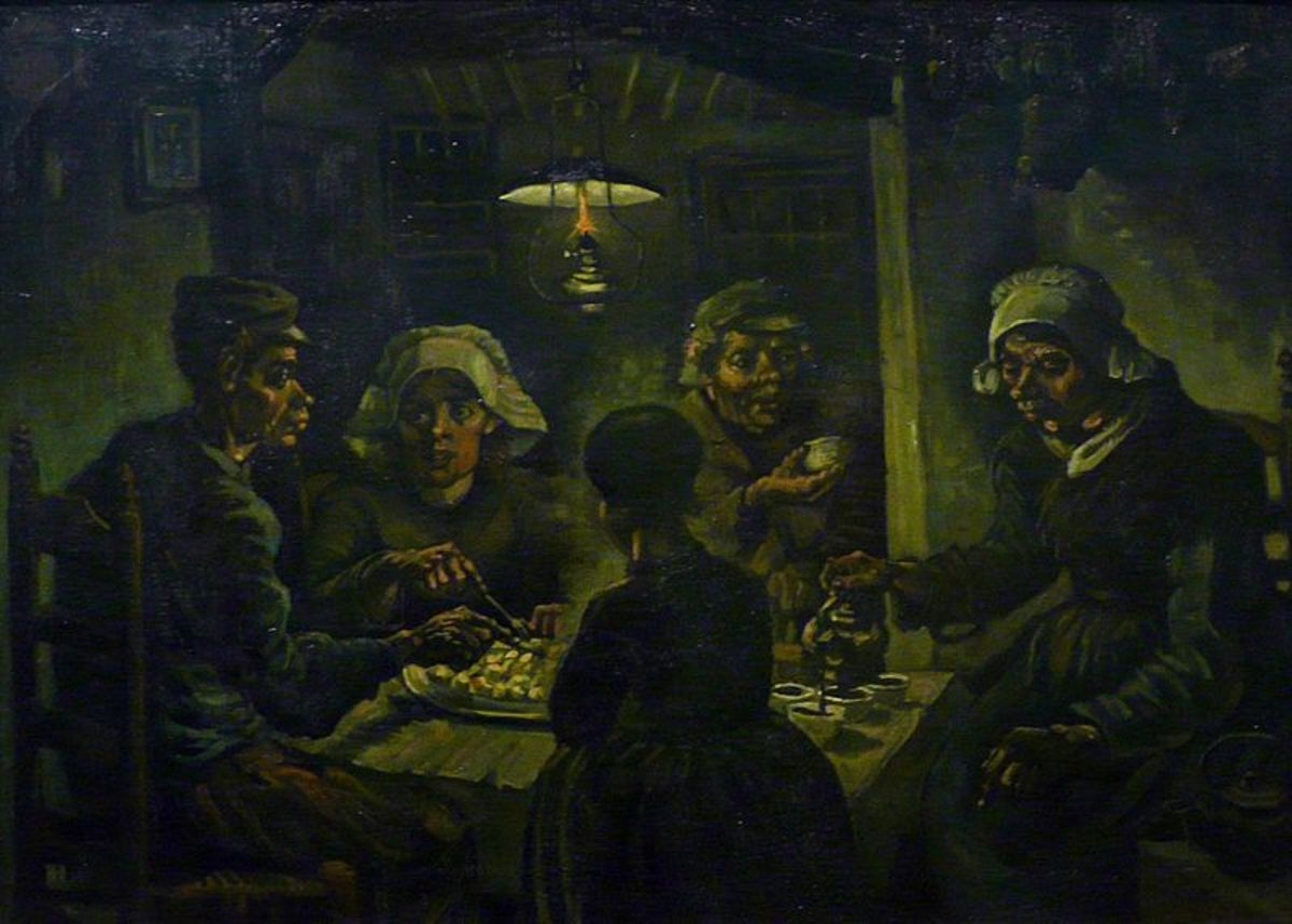 Vincent Van Gogh's The Potato Eaters (1885)