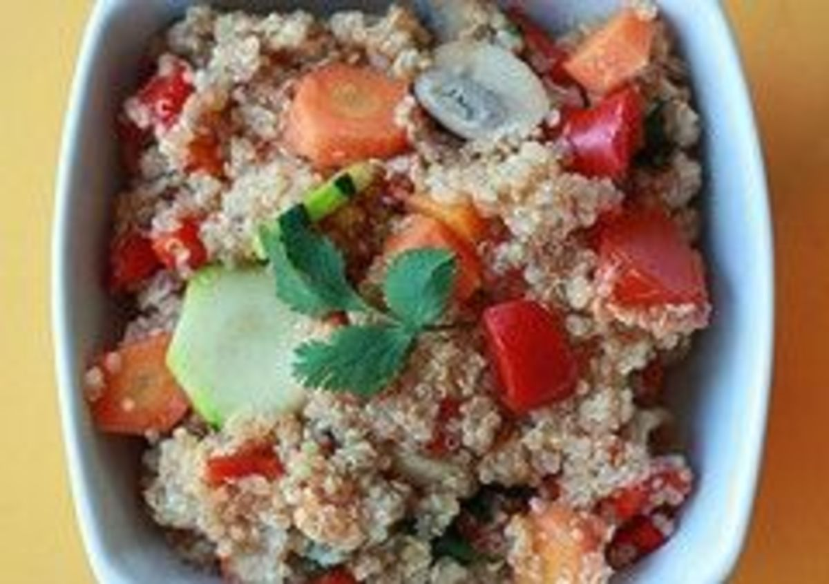 Quinoa -- a great source of protein (image by sweetonveg on flickr, CC licence)