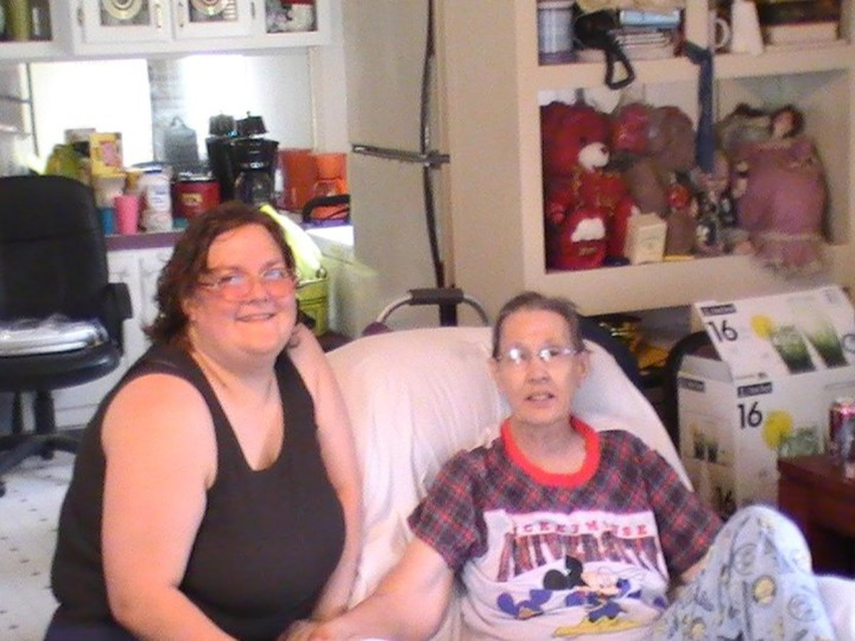 This was taken the summer of 2010 of me and Linda in her home.