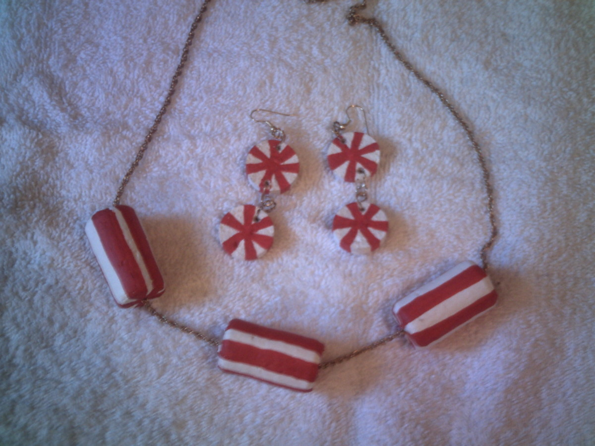Peppermint Stick Wine Cork Jewelry