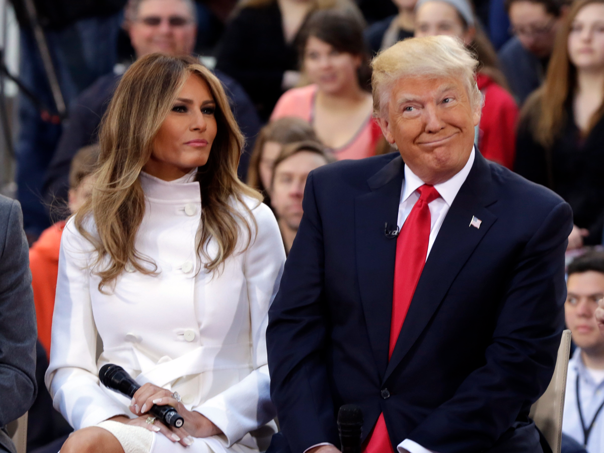 First Lady Melania Trump and President Trump