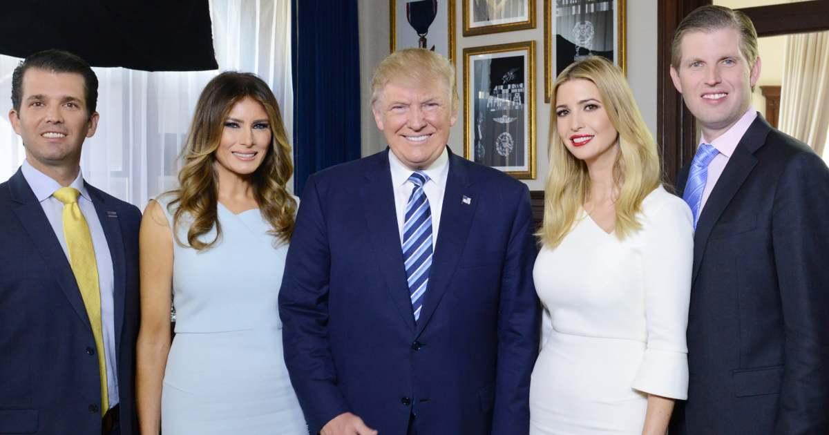 Donald Trump Jr., Melania Trump, President Donald Trump, Ivanka Trump, Eric Trump