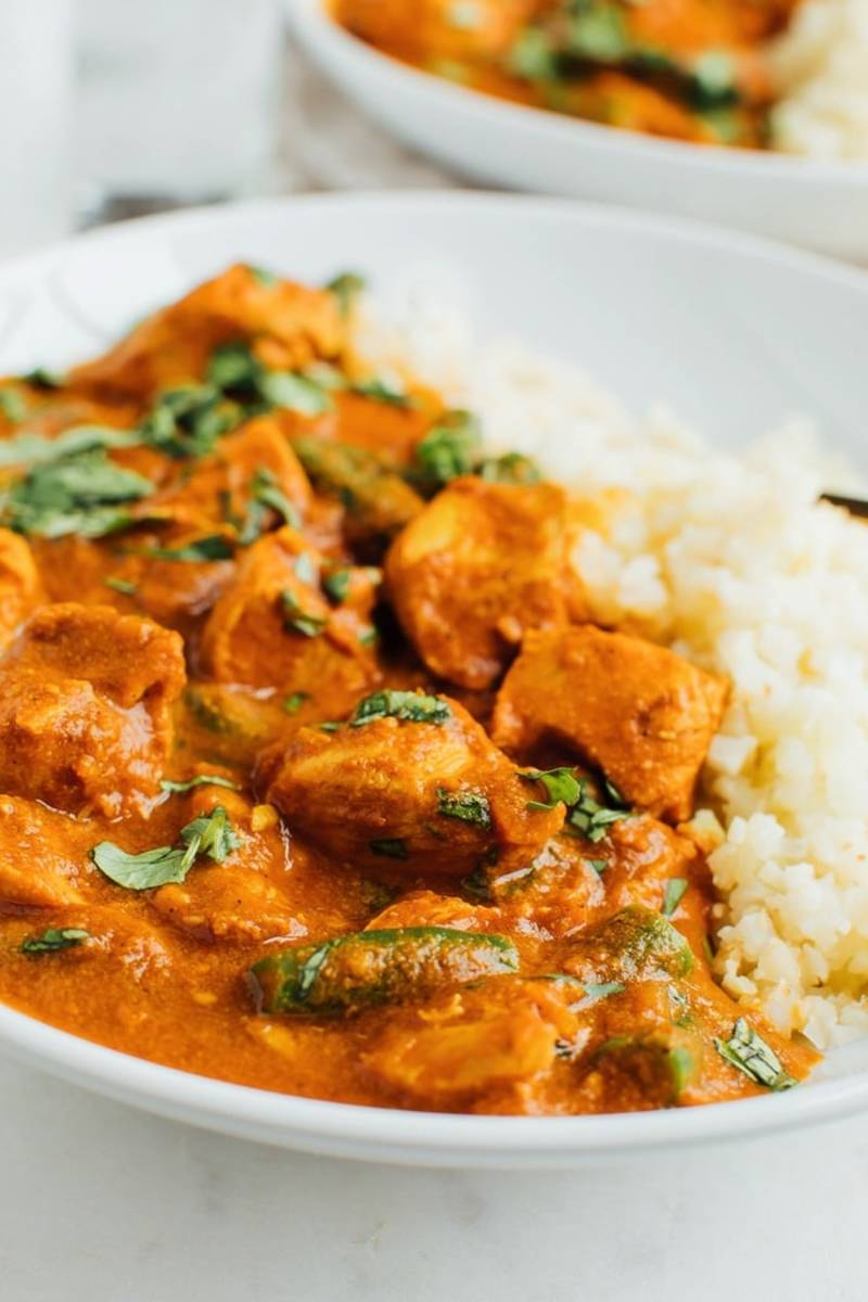 Slow-cooker dairy-free butter chicken