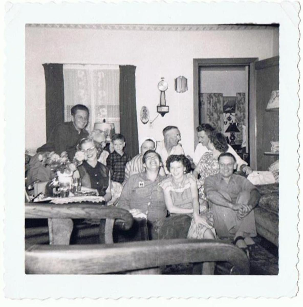 A very loving family, my mother front left.