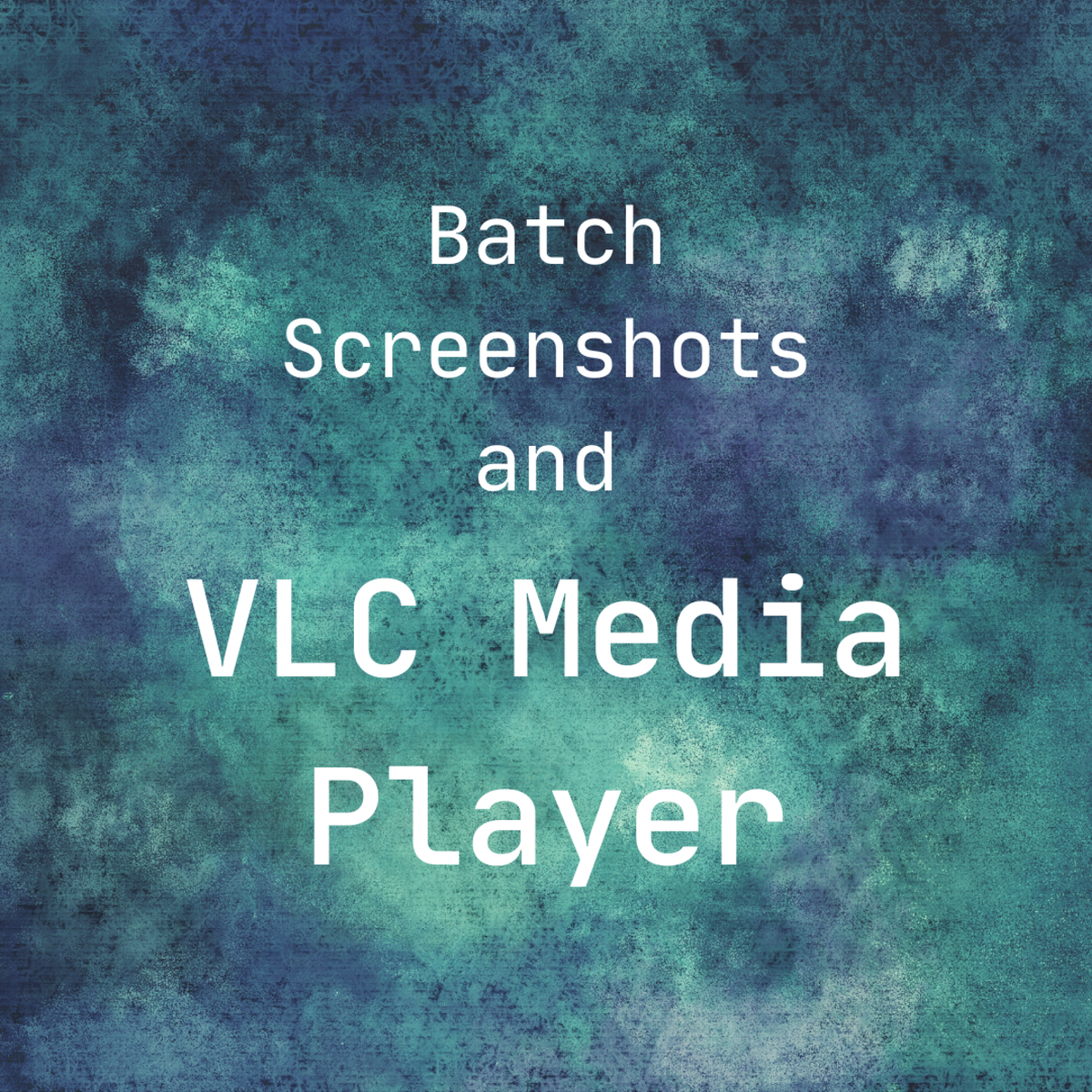 A brief tutorial on how to take batch screenshots on VLC Media Player