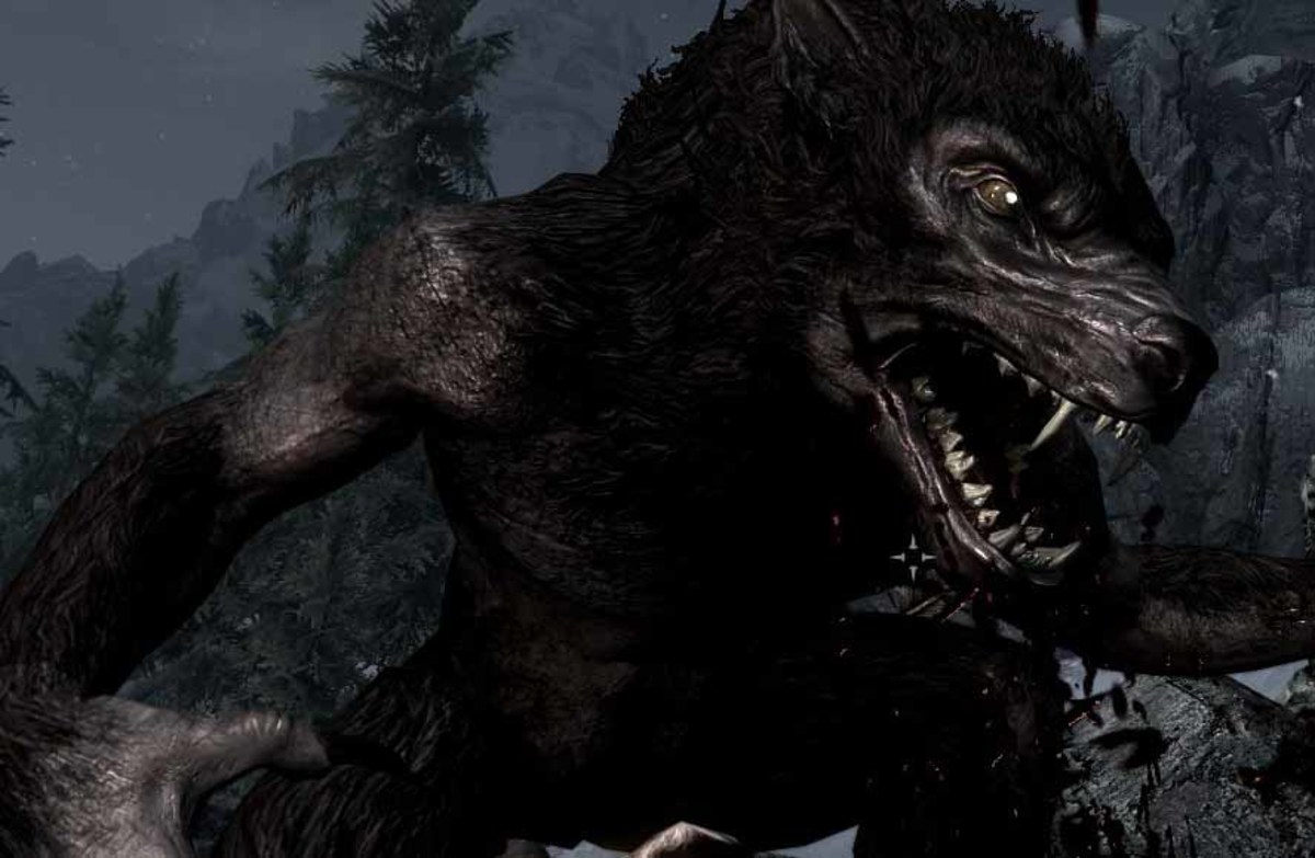 Skyrim Werewolf Hero in Action (Werewolf Pounce Attack)
