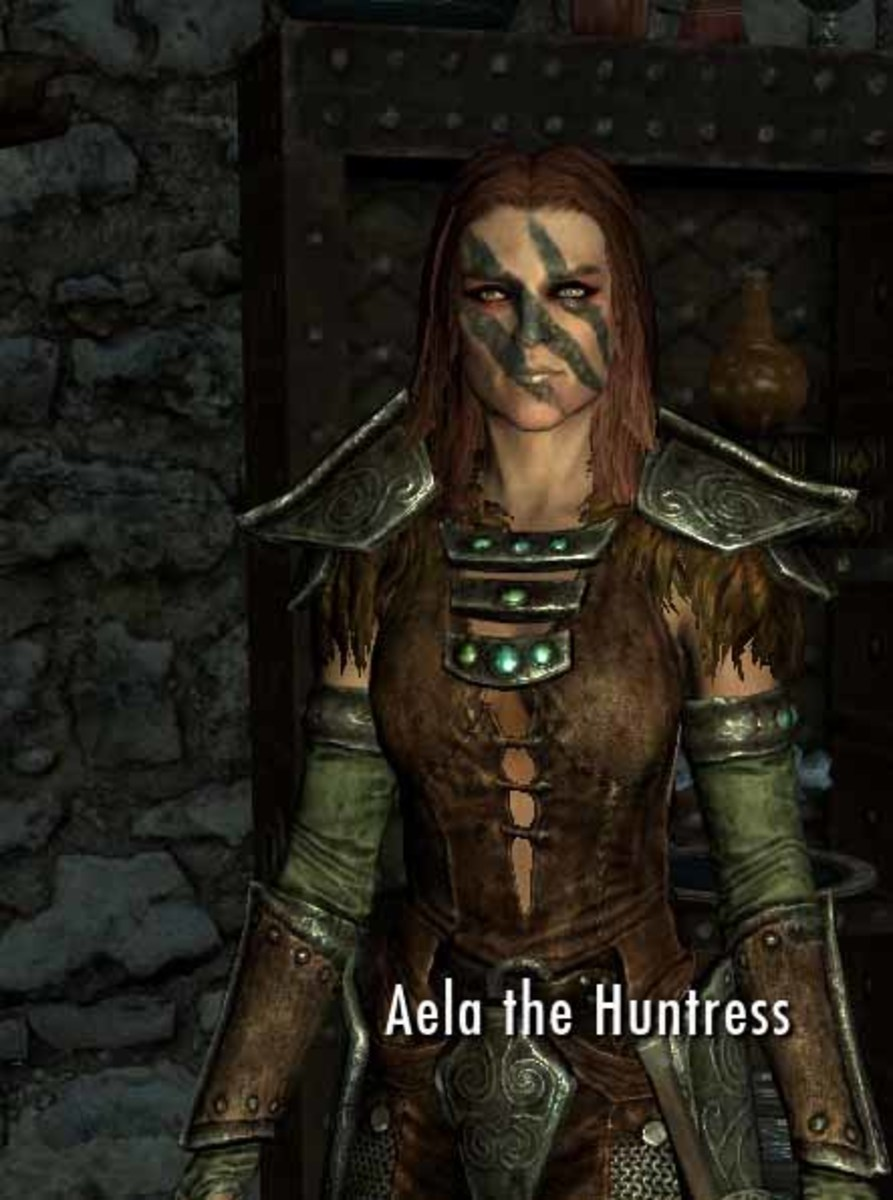 Skyrim Joining the Companions can have its advantages - Aela the Huntress - a date anytime in Skyrim apart from a full moon.