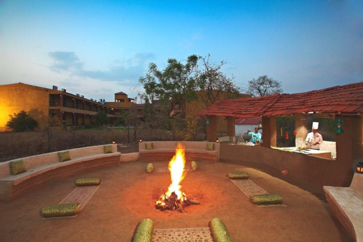 Campfire at a Hotel
