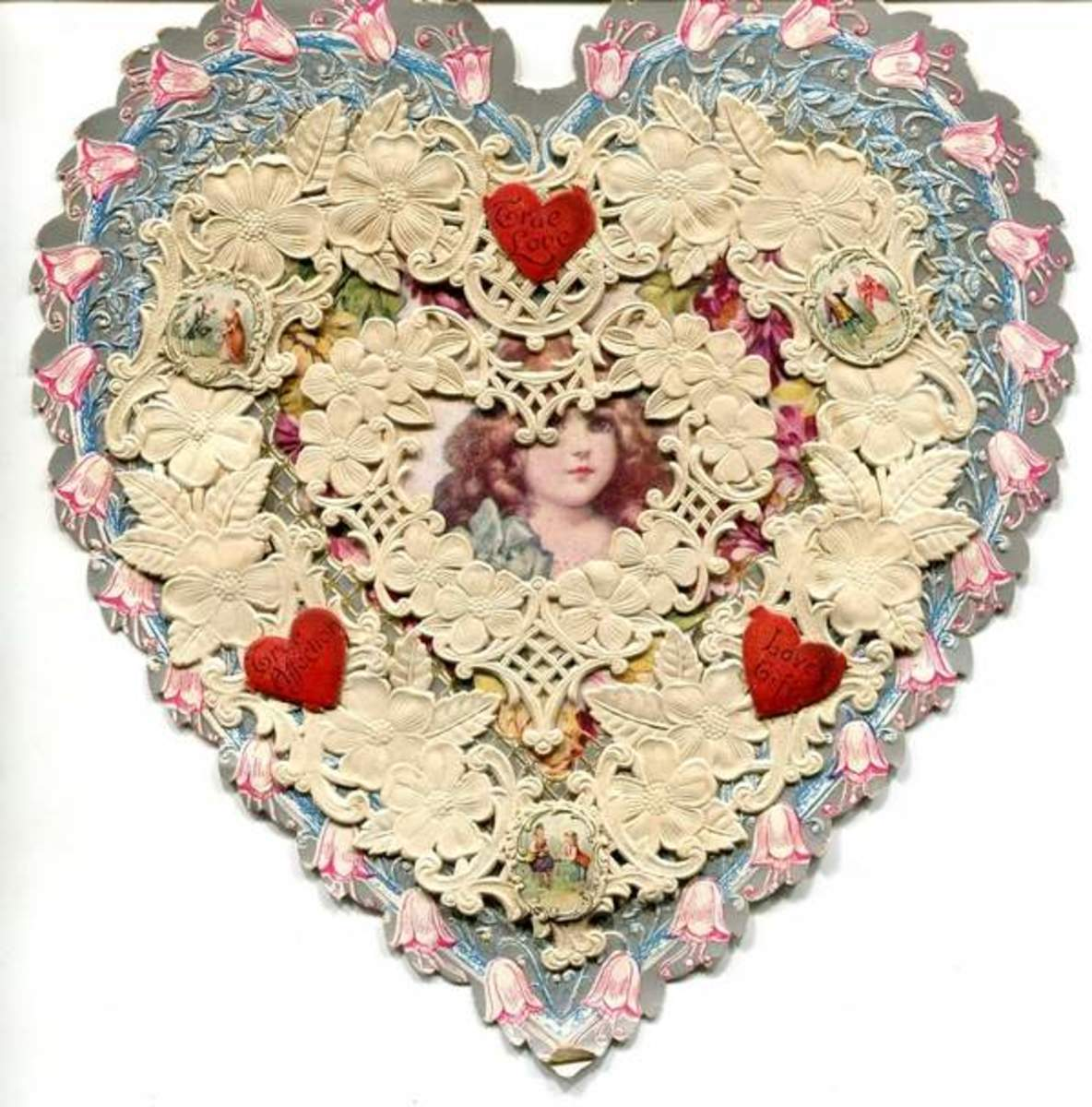 Howland's Hand-made Lace Valentine