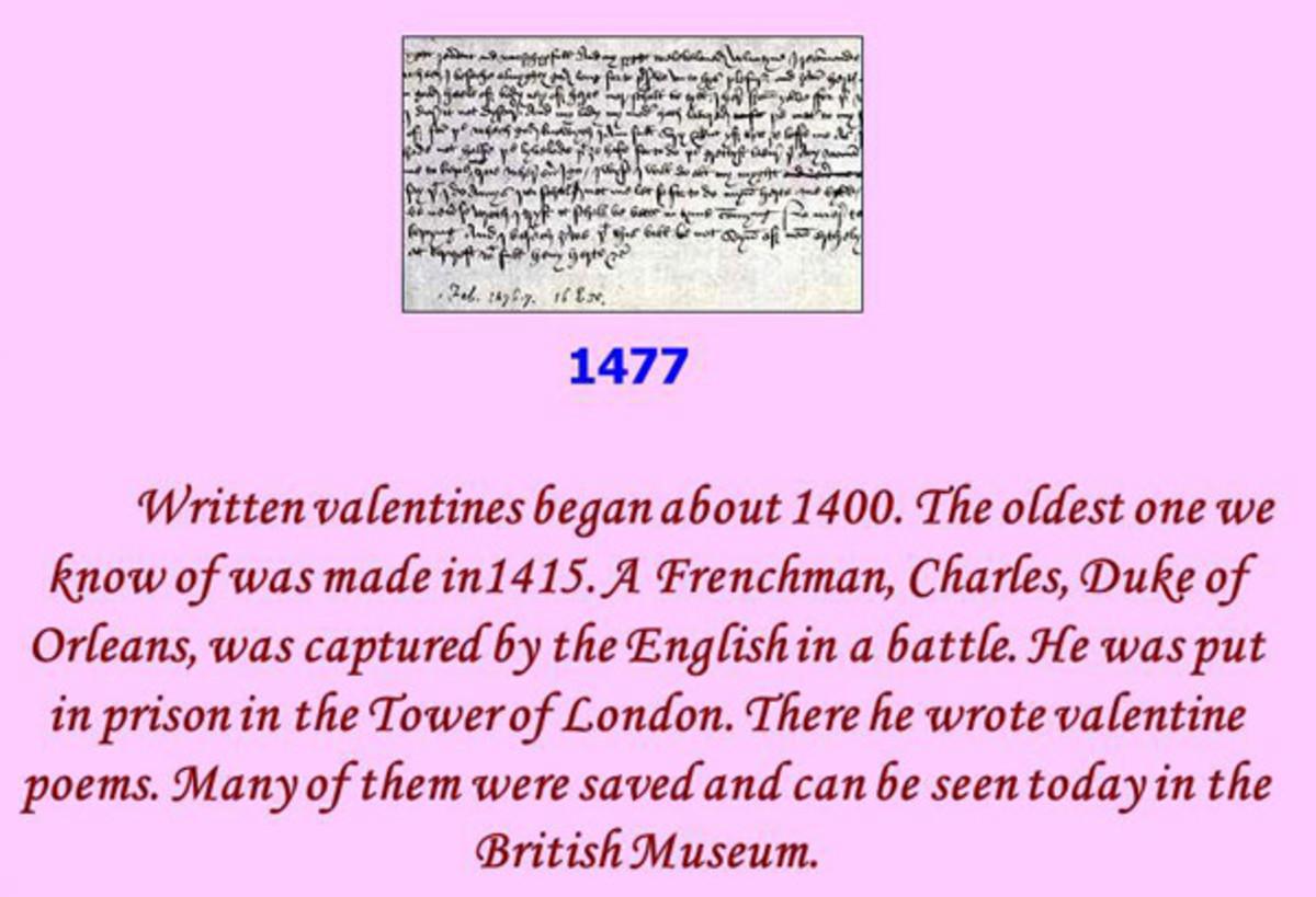 Duke of Orlean Valentine Letter