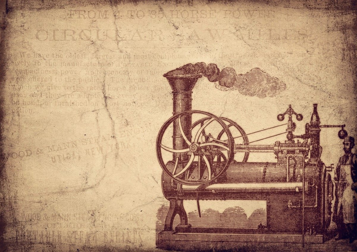 Steam engines were developed during the industrial revolution. To create steam, coal was used to heat up the water.