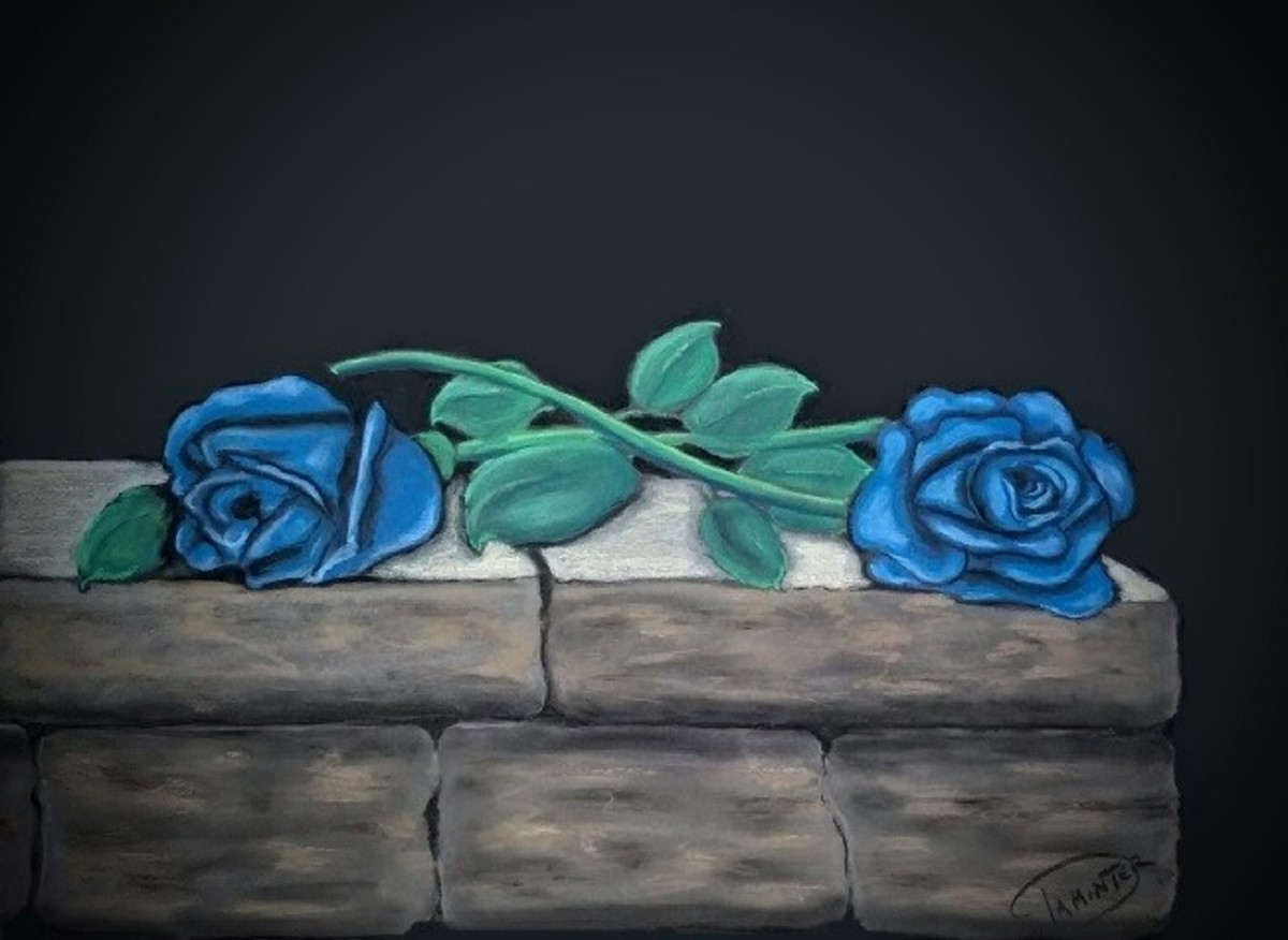 The blue rose means unattainable or unrequited love.
