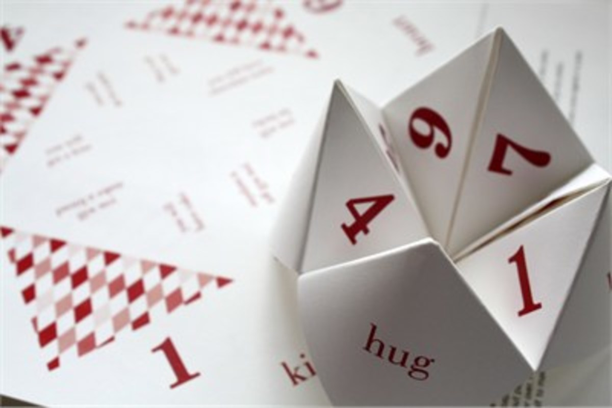 Click on the Fortune Teller picture to visit pagestationery.com and get your own Cootie Catcher.  It's fun for everyone.