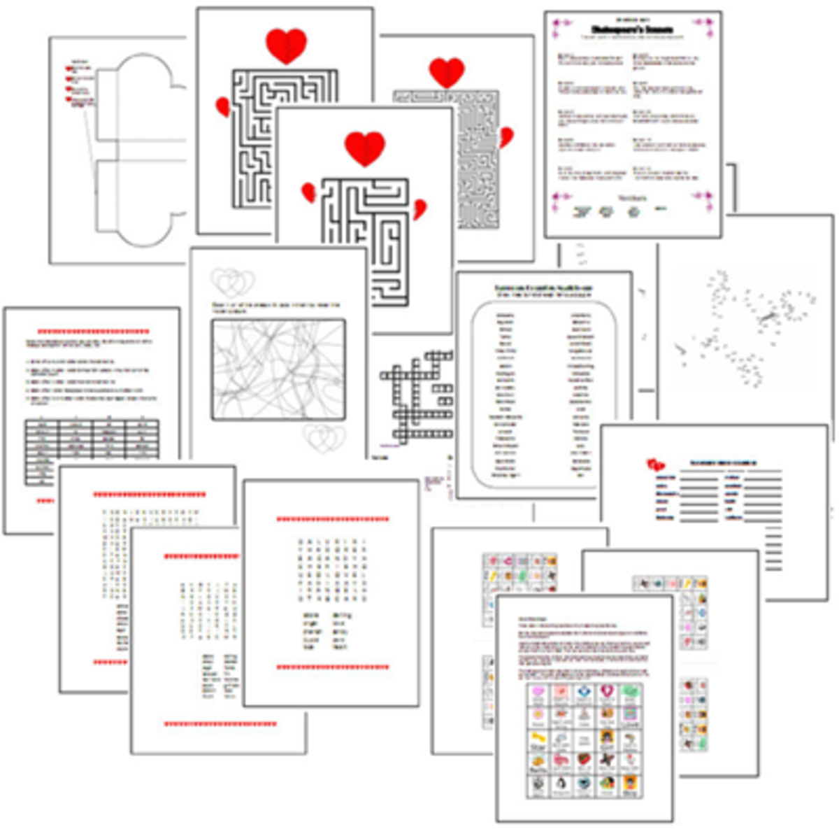 All Crafts isn't just crafts, it's got some free printable games that are perfect for Valentine's Day!  Just click on the picture to visit this site and get these free games.