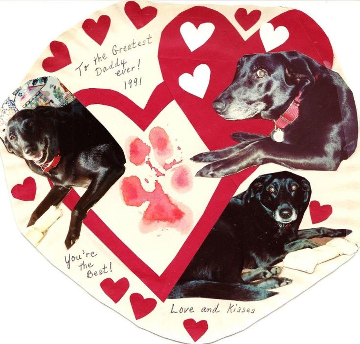 Trudy's Valentine Card with Paw Print