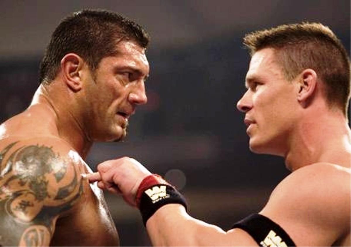 Batista vs. John Cena.