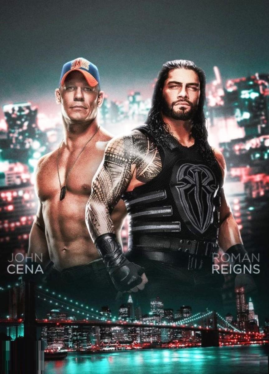 John Cena vs. Roman Reigns.