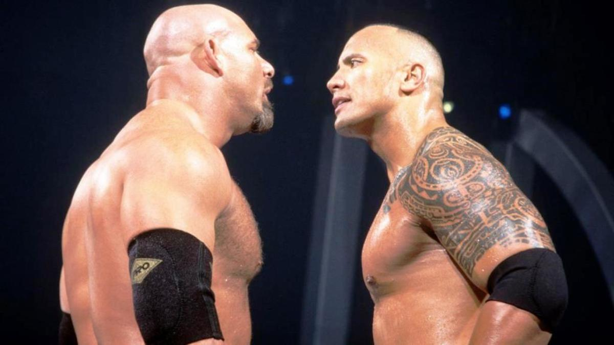 Goldberg vs. The Rock.