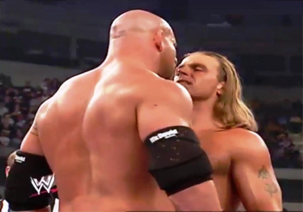 Goldberg vs. Shawn Michaels.