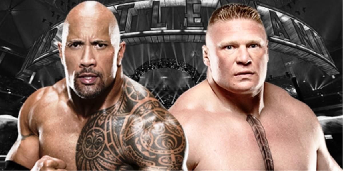 The Rock vs. Brock Lesnar.