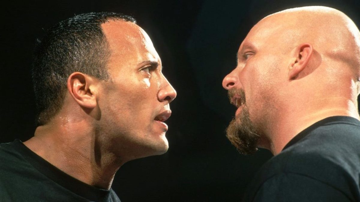 The Rock vs. Stone Cold Steve Austin.
