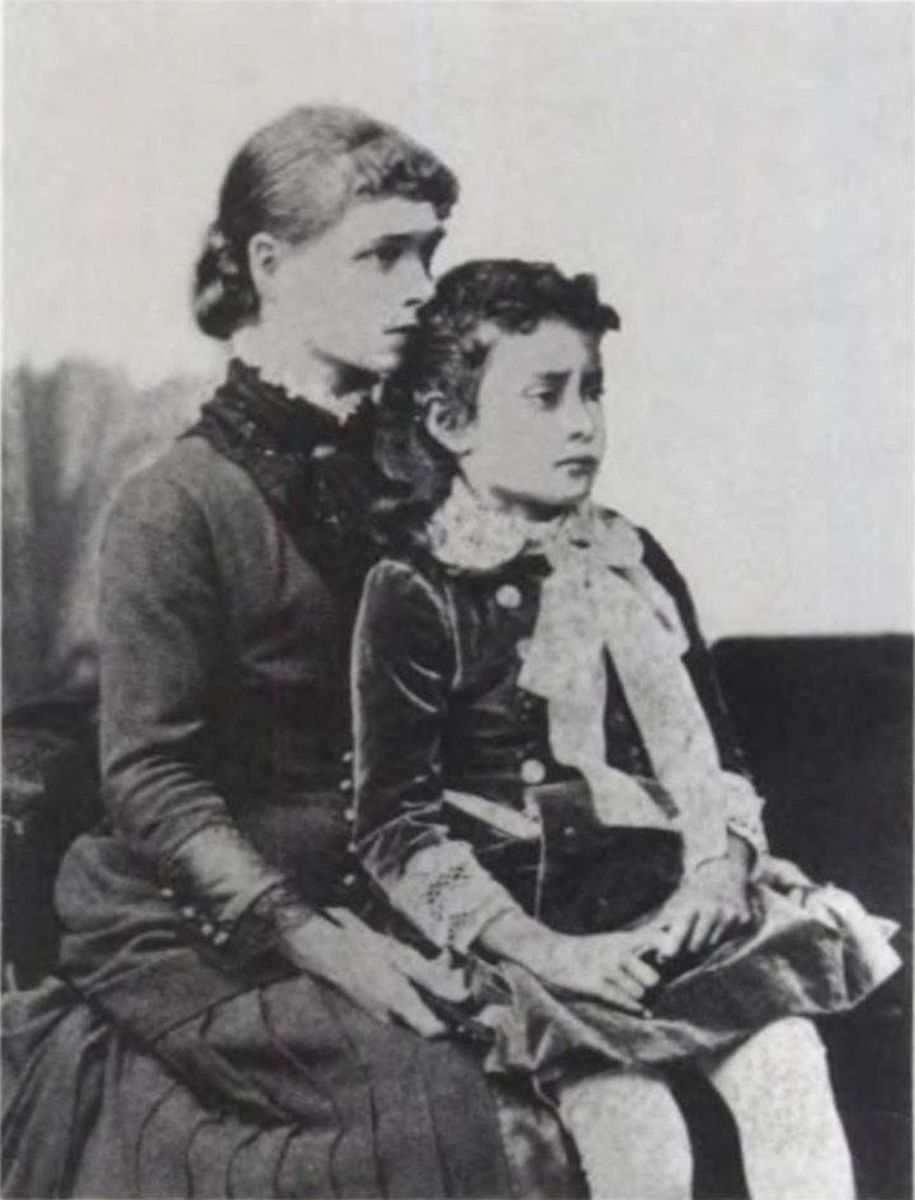 Princess Ka'iulani and governess