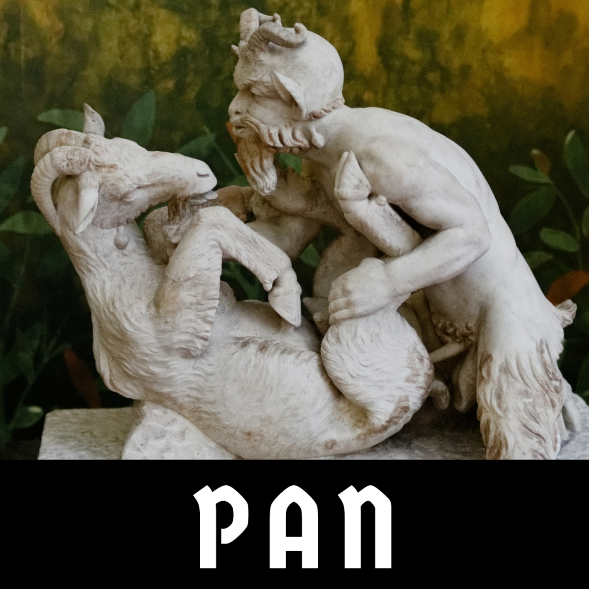 Pan is depicted here copulating with a goat.