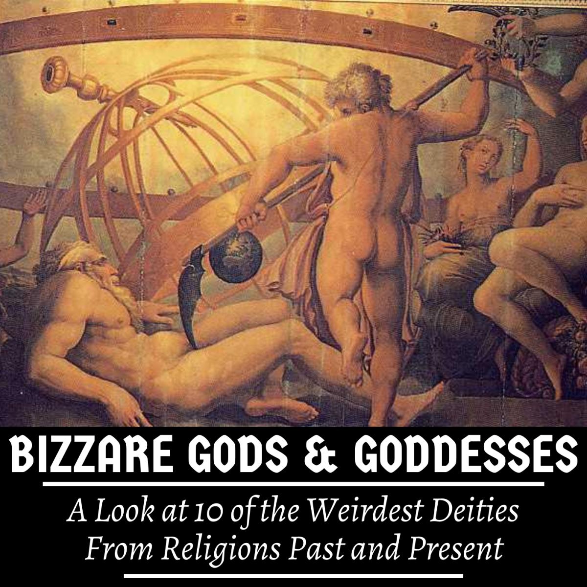 Some of the weirdest gods were Greek. Here, Cronus mutilates his father, Uranus.