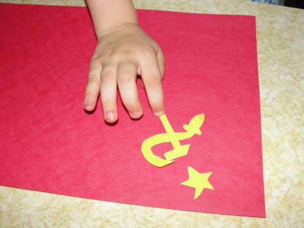 Creating soviet flags