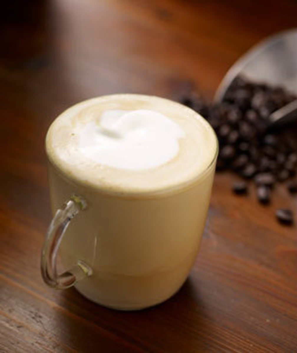 Here's an example of a dry cappuccino. The line of separation at the bottom shows where the foam ends and the milk begins.
