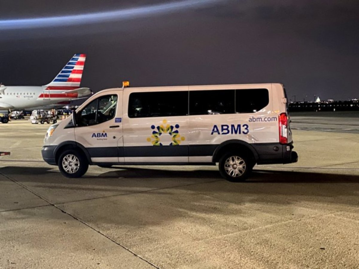 Example of an airport vehicle with proper decals