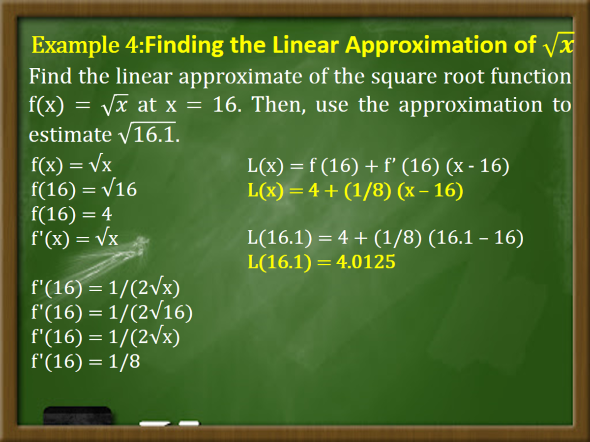 Finding the Linear Approximation of √x