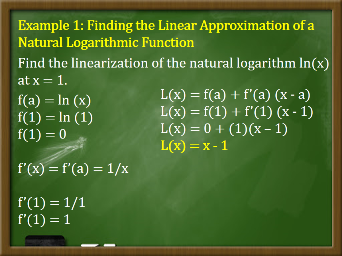 Finding the Linear Approximation of a Natural Logarithmic Function