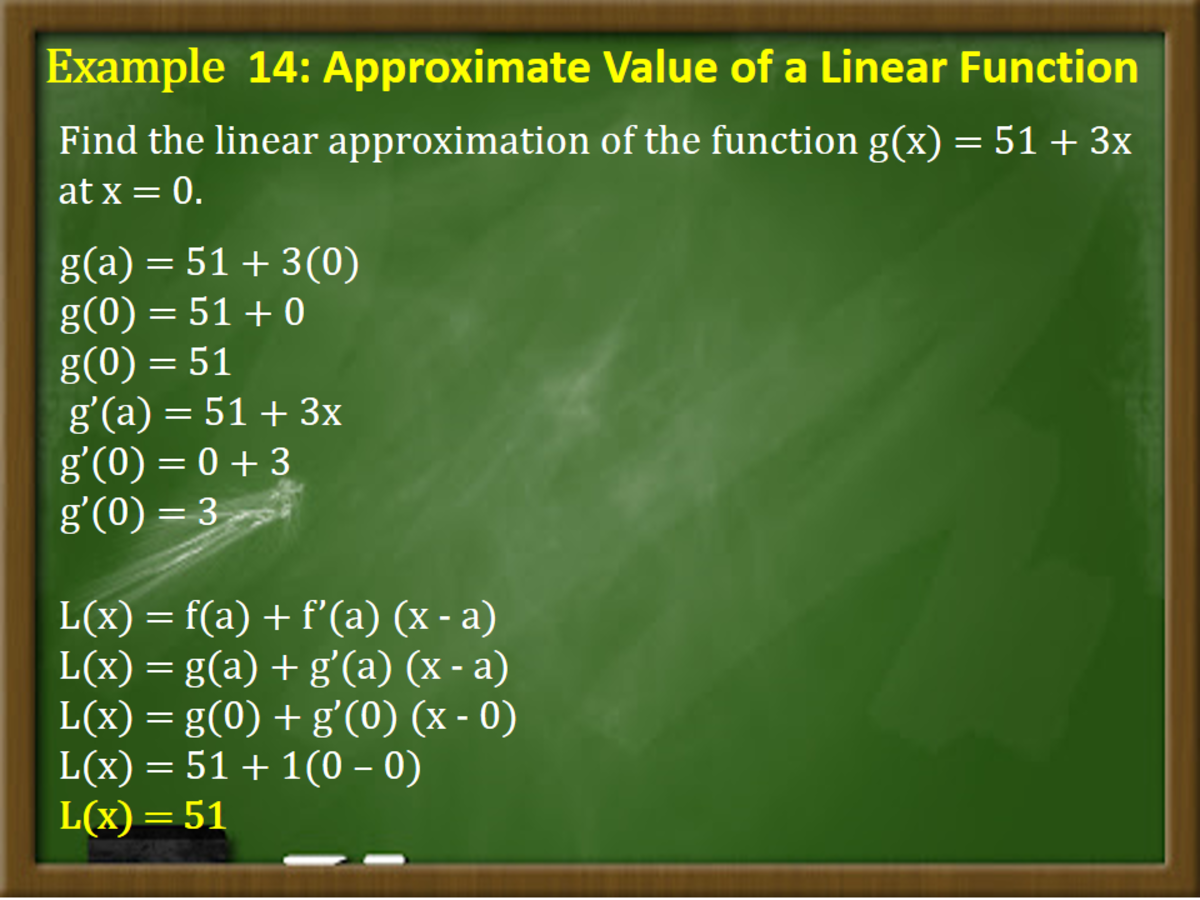 Approximate Value of a Linear Function