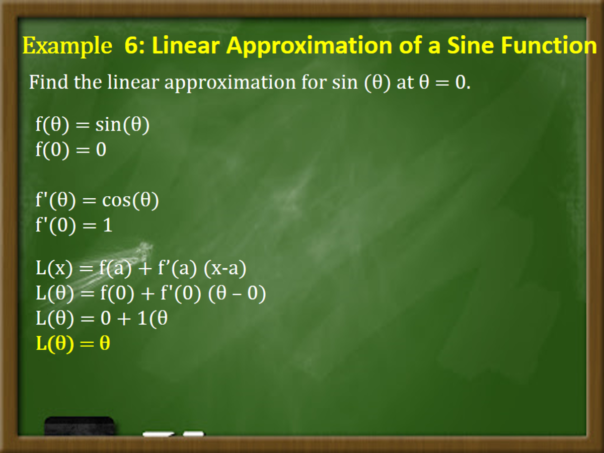 Linear Approximation of a Sine Function
