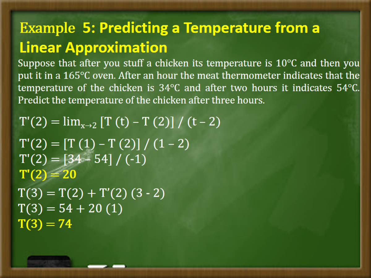 Predicting a Temperature from a Linear Approximation