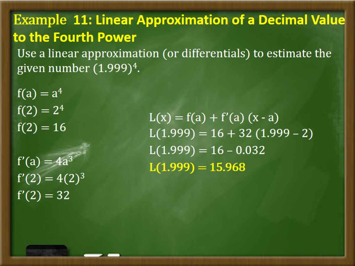 Linear Approximation of a Decimal Value to the Fourth Power