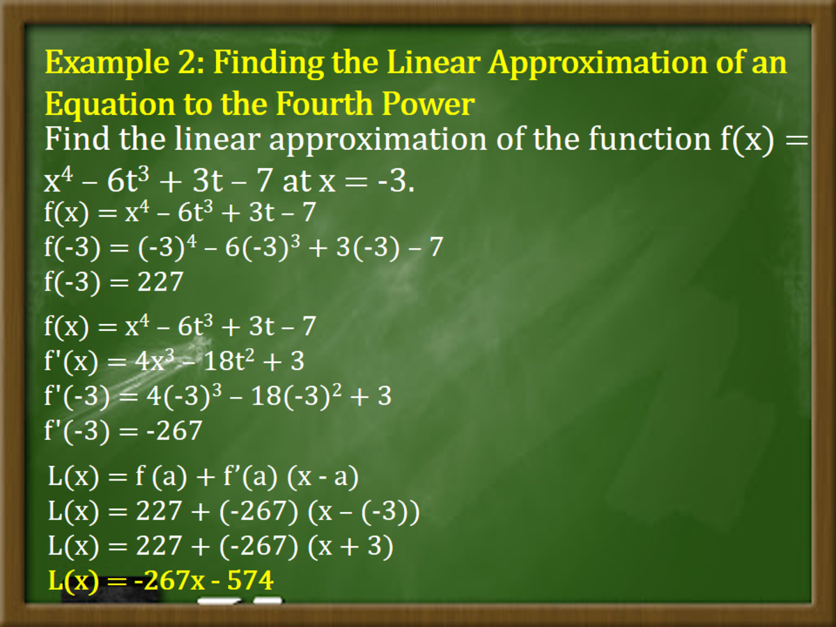 Finding the Linear Approximation of an Equation to the Fourth Power