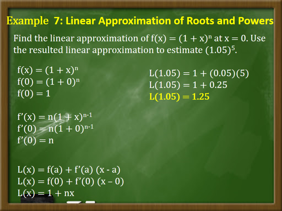 Linear Approximation of Roots and Powers