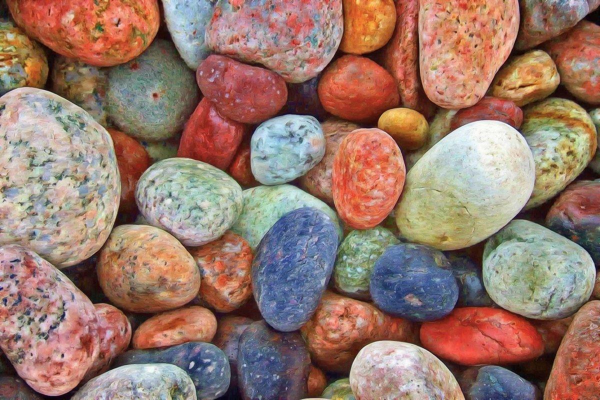 Stones Rocks Pebbles Colorful Nature Texture