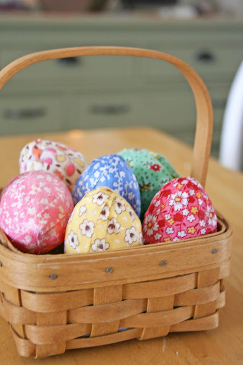 fabric covered eggs