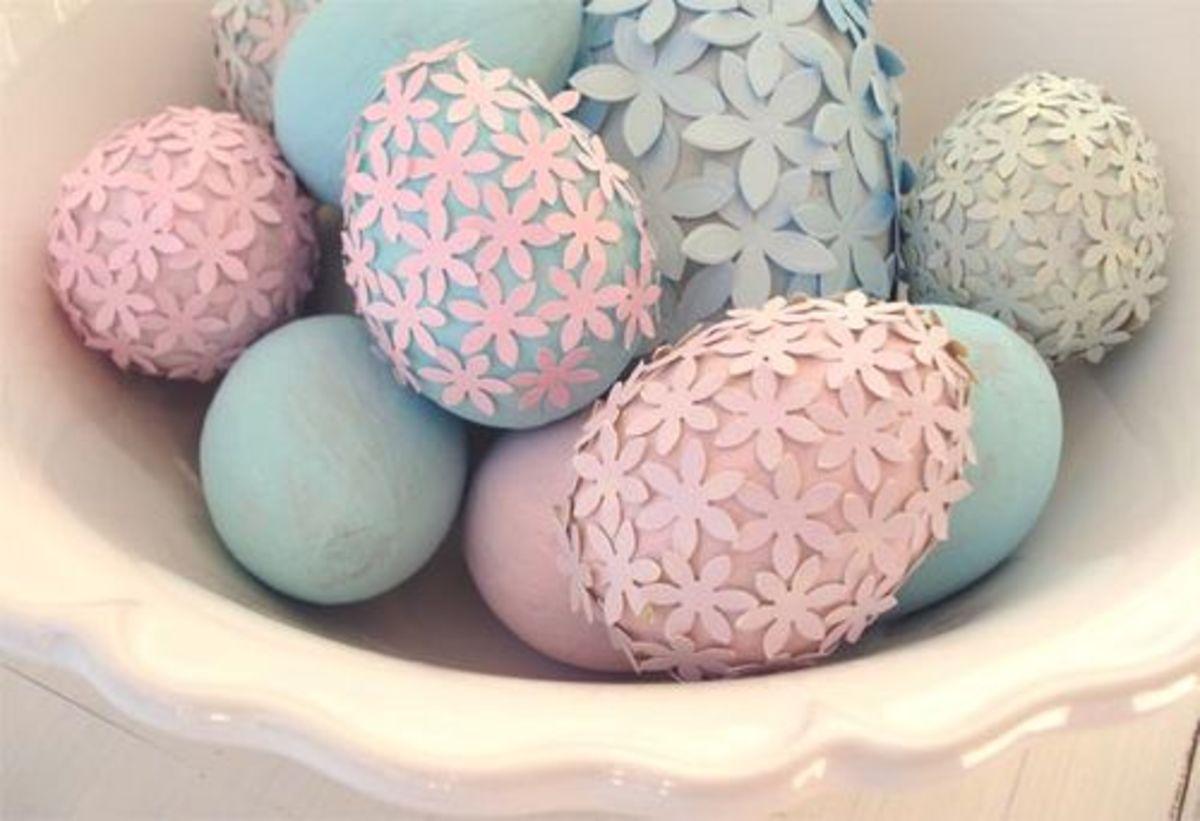 paper flower eggs