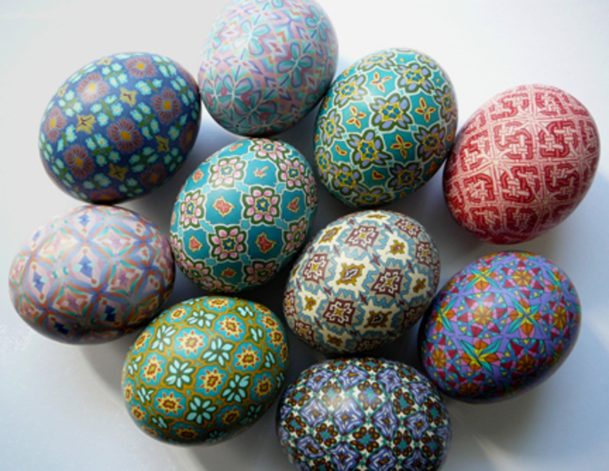 polymer clay covered eggs
