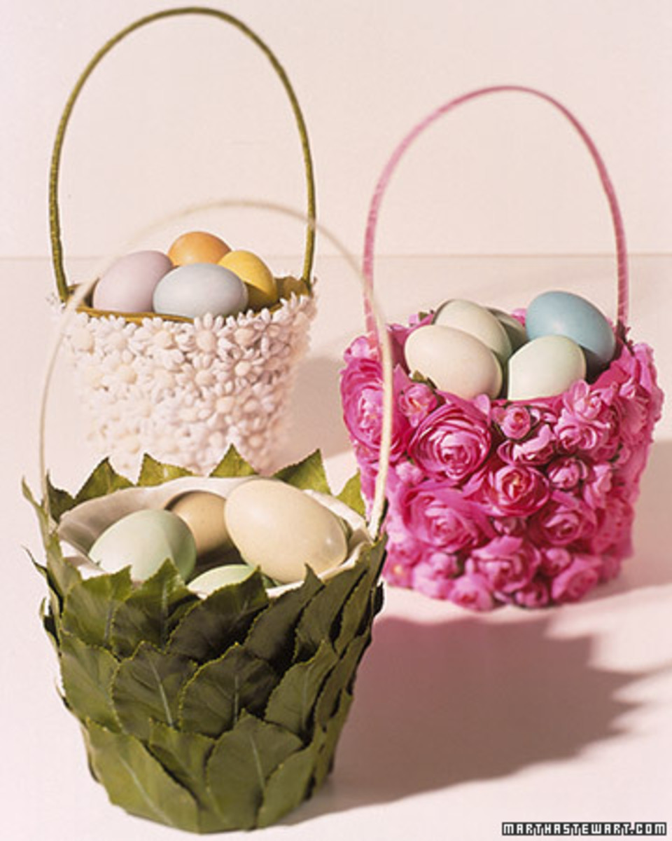 pretty covered baskets