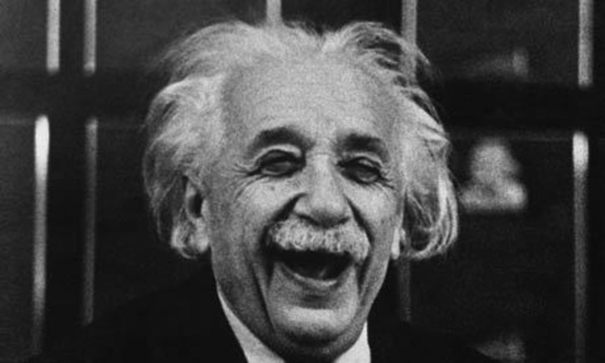 Einstein with his great laugh