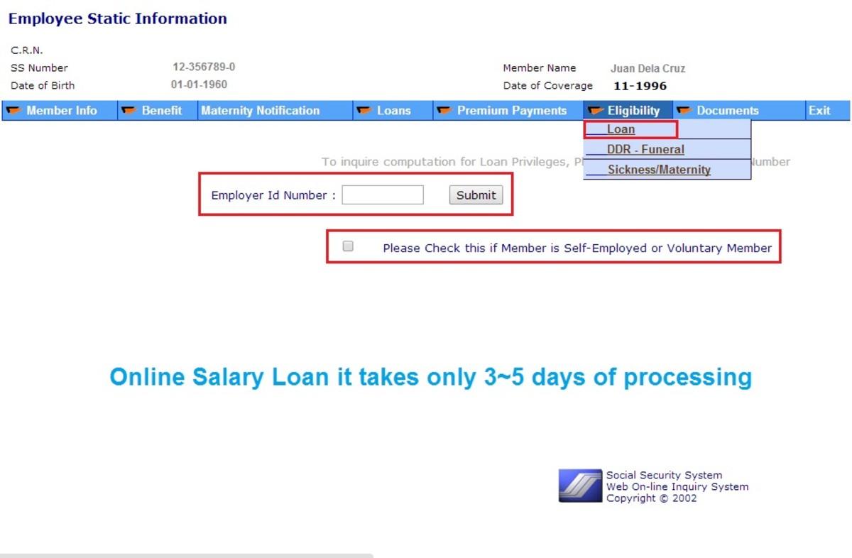 SSS Iligibility Salary Loan