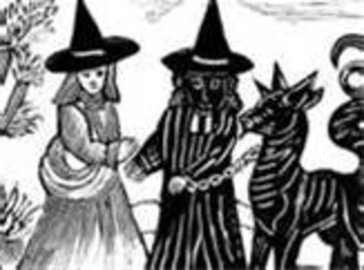 Woodcut from the Salem Witch Trials