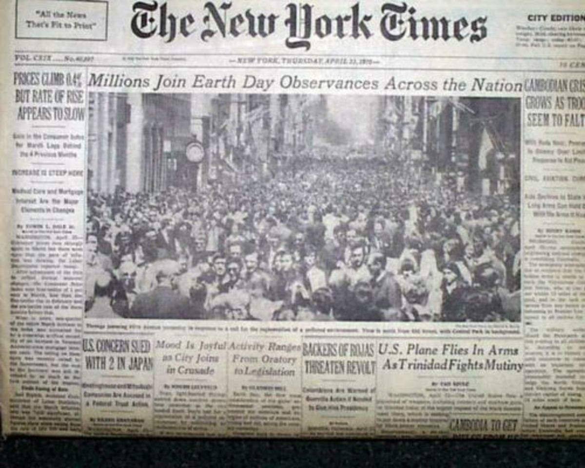 New York Times April 22, 1970 First Earth Day