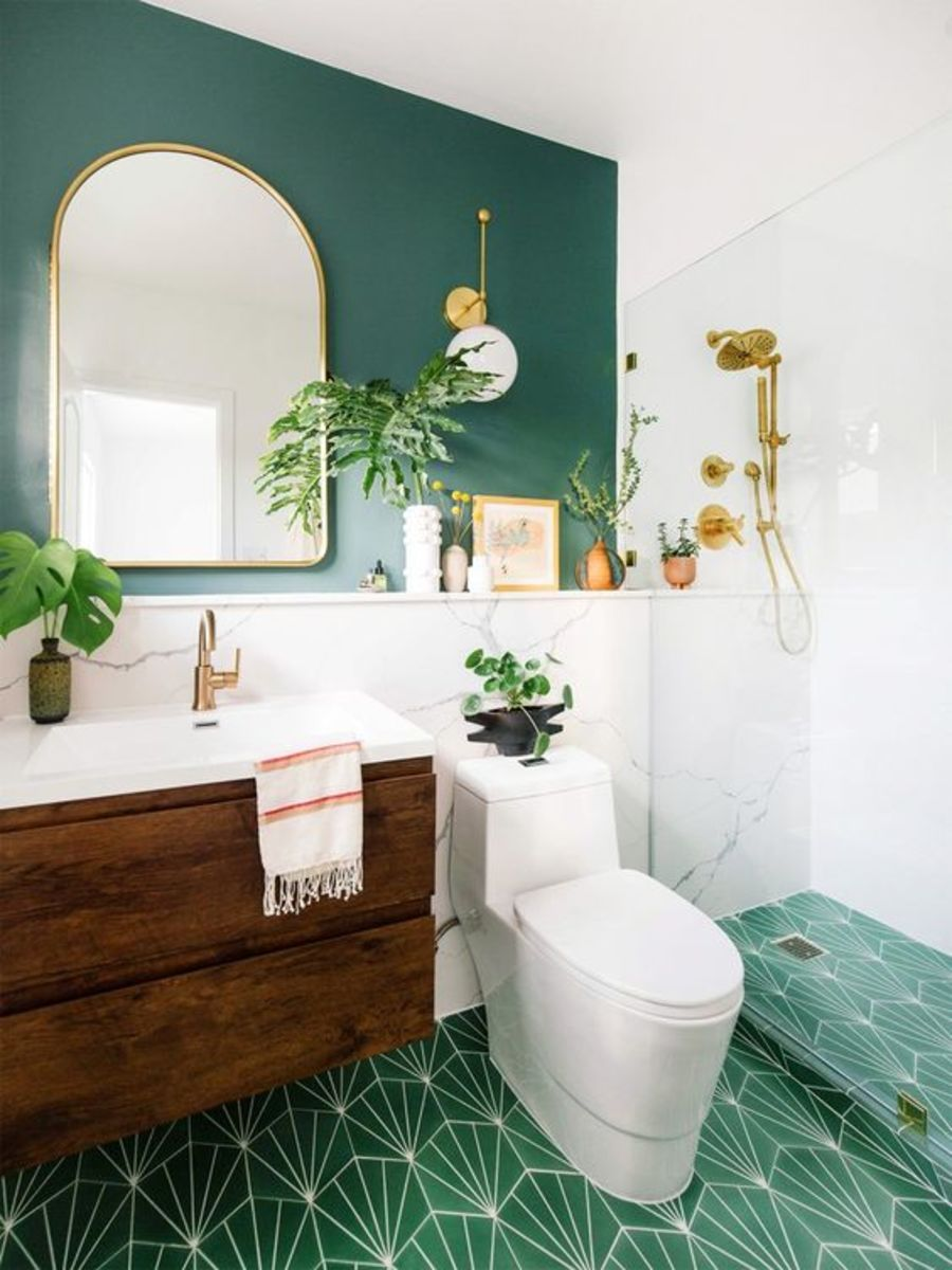 A good color palette for the Chinese Zodiac Rat is green and gold. The colors will support creativity, opulence, flora, and pampering. Add glass and mirrors, show some plumbing, and opt for tile floors.