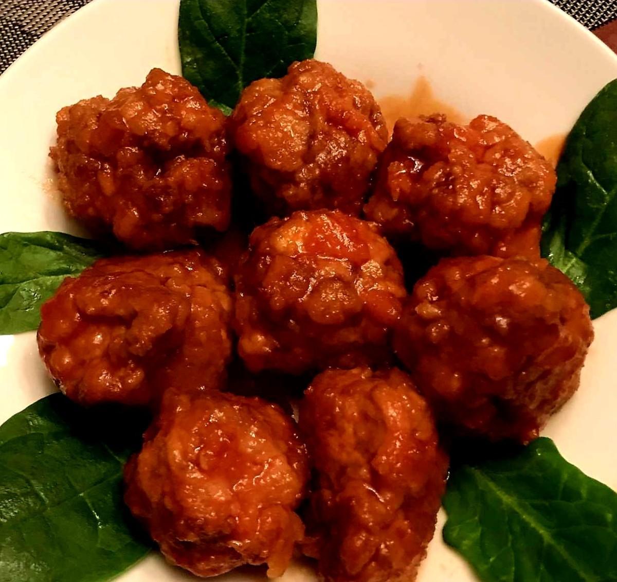 Ginger ale meatballs